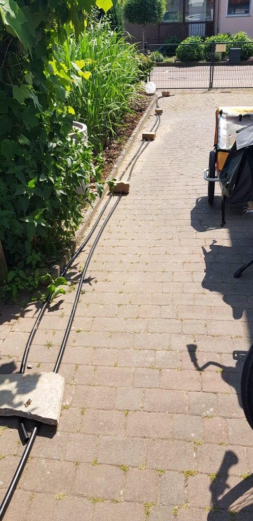 Gardena Pipeline Brunnenbau Brunnen bohren Dreibein Brunnenrohr Gartenbrunnen Brunnen klarpumpen